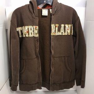 🌟Timberland Boy's Brown Full Zip Hoodie